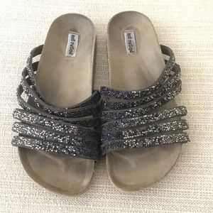 Birkenstock style sandals w/sparkle by Not Rated